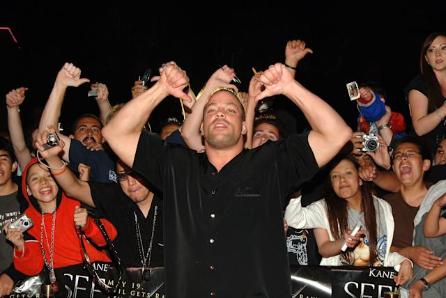 Rob Van Dam, WWE Raw Superstar during 'See No Evil' Premiere - Arrivals in Los Angeles, California, United States. (Photo by J.Sciulli/WireImage for LIONSGATE)