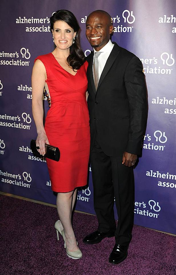 """""""Private Practice"""" hottie Taye Diggs and his gorgeous wife Idina Menzel were just two of more than 900 guests at the event, which honored the efforts of Walt Disney Co. Chief Executive Robert Iger, whose mother suffered from Alzheimer's. Frazer Harrison/<a href=""""http://www.gettyimages.com/"""" target=""""new"""">GettyImages.com</a> - March 16, 2011"""