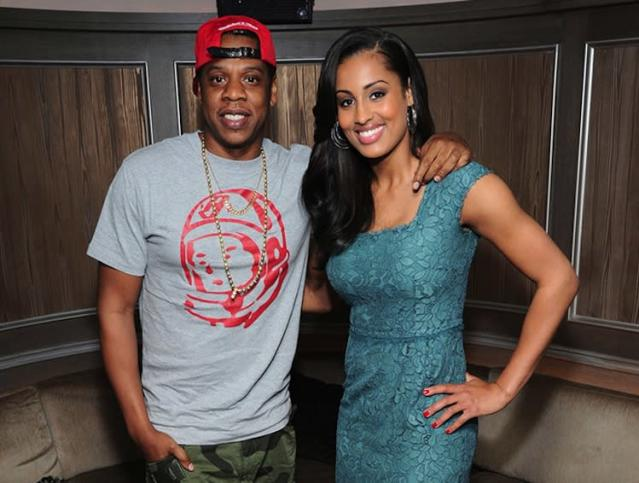 Skylar Diggins poses with her agent, a guy by the name of Jay-Z, in May -- Getty Images
