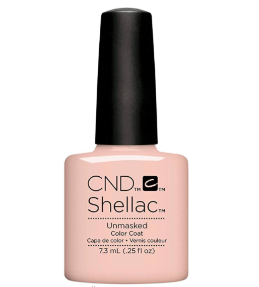 She wore two coats of the 'Unmasked' shade of Shellac. (Amazon)