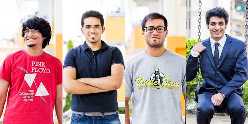 Jobspire Co-founders: Kartik, Mohak, Sandesh, Varun (From L-to-R)
