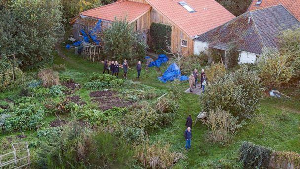PHOTO: This drone image shows Dutch judges visiting the farmhouse in Ruinerwold, the Netherlands, where a family was allegedly held captive for nearly a decade, Oct. 30, 2019. (Wilbert Bijzitter/ANP/AFP/Getty Images)