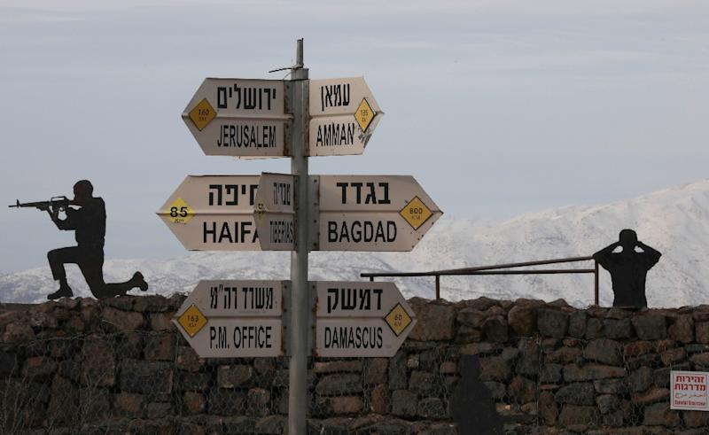 The Golan Heights lies at a strategic chokepoint in the Middle East and through successive rounds of negotiations Syria has demanded its return as the price of peace with Israel (AFP Photo/JALAA MAREY)