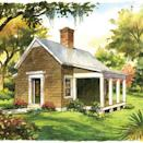 """<p>Goldilocks would approve of the itsy-bitsy Garden Cottage. This 540-square-foot plan is just the right size for a mother-in-law suite or weekend retreat. It provides all our favorite creature comforts in petite proportions—a full kitchen, a cozy fireplace, and a wide front porch that's begging for a pair of rocking chairs.</p> <p>1 bedroom, 1 bath</p> <p>540 square feet</p> <p>See plan: <a href=""""https://houseplans.southernliving.com/plans/SL1830"""" rel=""""nofollow noopener"""" target=""""_blank"""" data-ylk=""""slk:Garden Cottage (SL-1830)"""" class=""""link rapid-noclick-resp"""">Garden Cottage (SL-1830)</a></p>"""