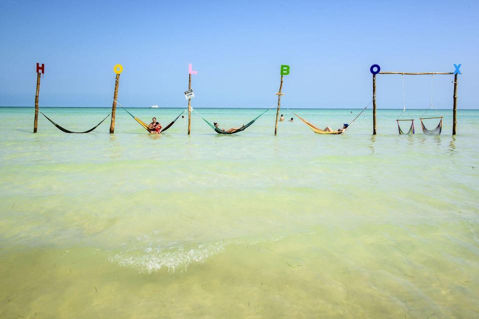 """<p>Another addition to the Mexican leisure era, <a href=""""https://www.holboxisland.com/"""" rel=""""nofollow noopener"""" target=""""_blank"""" data-ylk=""""slk:Isla Holbox"""" class=""""link rapid-noclick-resp"""">Isla Holbox</a> blew us away with the best of the Yucatan Peninsula. Exotic bird watchers and people who don't drive were pleasantly surprised by what the island offered. </p>"""