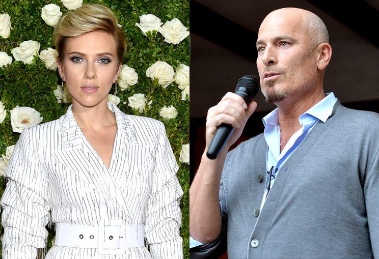 Scarlett Johansson and Kevin Yorn photographed holding hands in NYC.