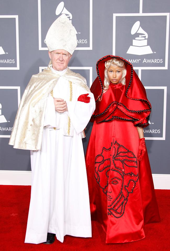 LOS ANGELES, CA - FEBRUARY 12: Singer Nicki Minaj arrives at the 54th Annual GRAMMY Awards held at the Staples Center on February 12, 2012 in Los Angeles, California. (Photo by Dan MacMedan/WireImage)