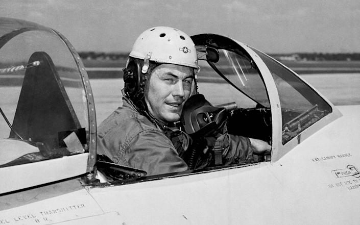 Chuck Yeager,seen here in 1948, the year he broke the sound barrier - AP