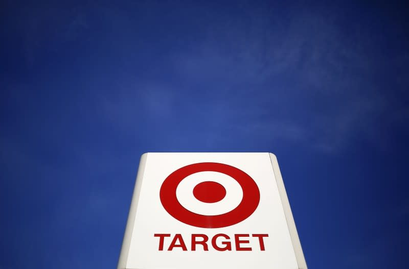 Sign for a Target store is seen in the Chicago suburb of Evanston, Illinois