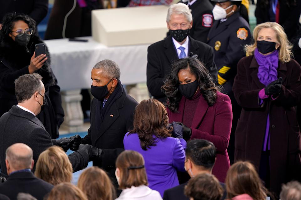 Why so many people wore purple on Inauguration DayGetty Images