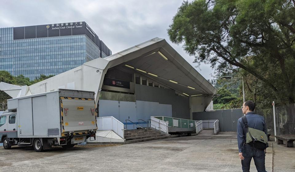 The station's exit D was still closed on Saturday. Photo: Sum Lok-kei