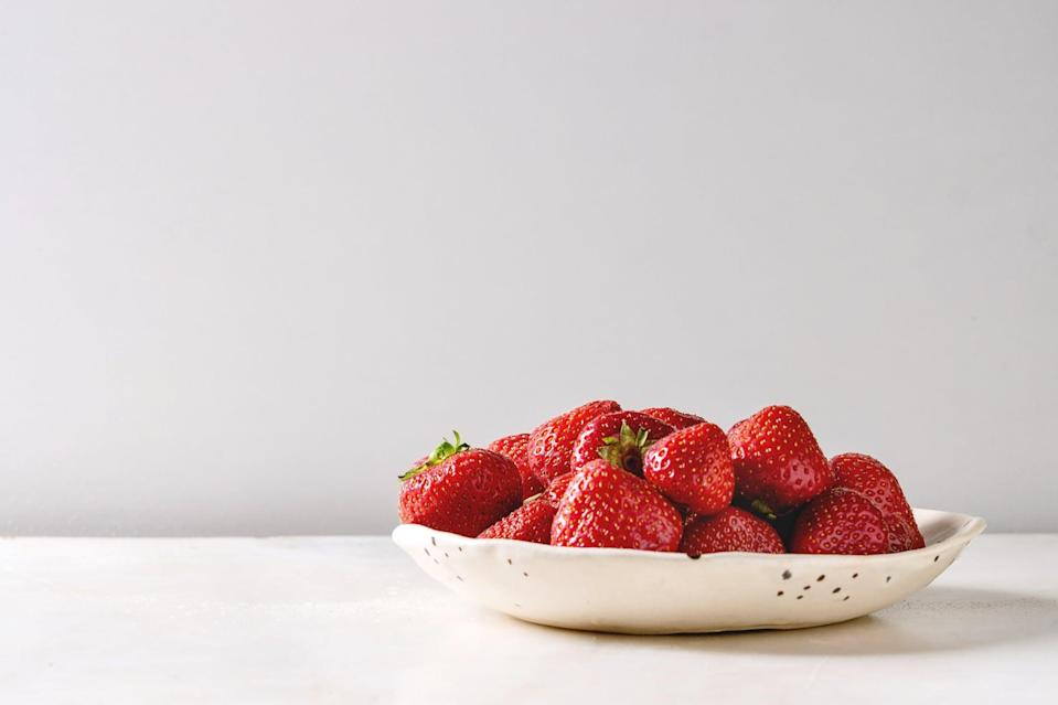 "<p>Strawberries are often an easy sell when it comes to toddler foods. These naturally sweet berries are loaded with vitamin C which is known for it's immune-boosting properties. Toddlers between the ages 1 and 3 years old <a href=""https://ods.od.nih.gov/factsheets/VitaminC-Consumer/"" class=""link rapid-noclick-resp"" rel=""nofollow noopener"" target=""_blank"" data-ylk=""slk:require 15 mg"">require 15 mg</a> of this nutrient which equates to only 2 to 3 strawberries a day (one strawberry contains approximately <a href=""https://www.californiastrawberries.com/whats-in-a-strawberry/"" class=""link rapid-noclick-resp"" rel=""nofollow noopener"" target=""_blank"" data-ylk=""slk:7 mg of vitamin C each"">7 mg of vitamin C each</a>). </p> <p>Strawberries can be easily cut into toddler-appropriate finger foods. Freeze-dried strawberries or homemade strawberry ""sauce"" (like apple sauce) are also wonderful toddler-friendly options.</p> <div class=""related-stories clearfix""> <div class=""related-header"">Related:</div> <a href=""https://www.popsugar.com/family/Healthy-Snack-Ideas-Toddlers-44941601"" class=""link rapid-noclick-resp"" rel=""nofollow noopener"" target=""_blank"" data-ylk=""slk:Healthy - and Easy! - Snacks For Toddlers That Don't Have Added Sugar""> <div class=""related-poster"">  </div> Healthy - and Easy! - Snacks For Toddlers That Don't Have Added Sugar </a> </div>"