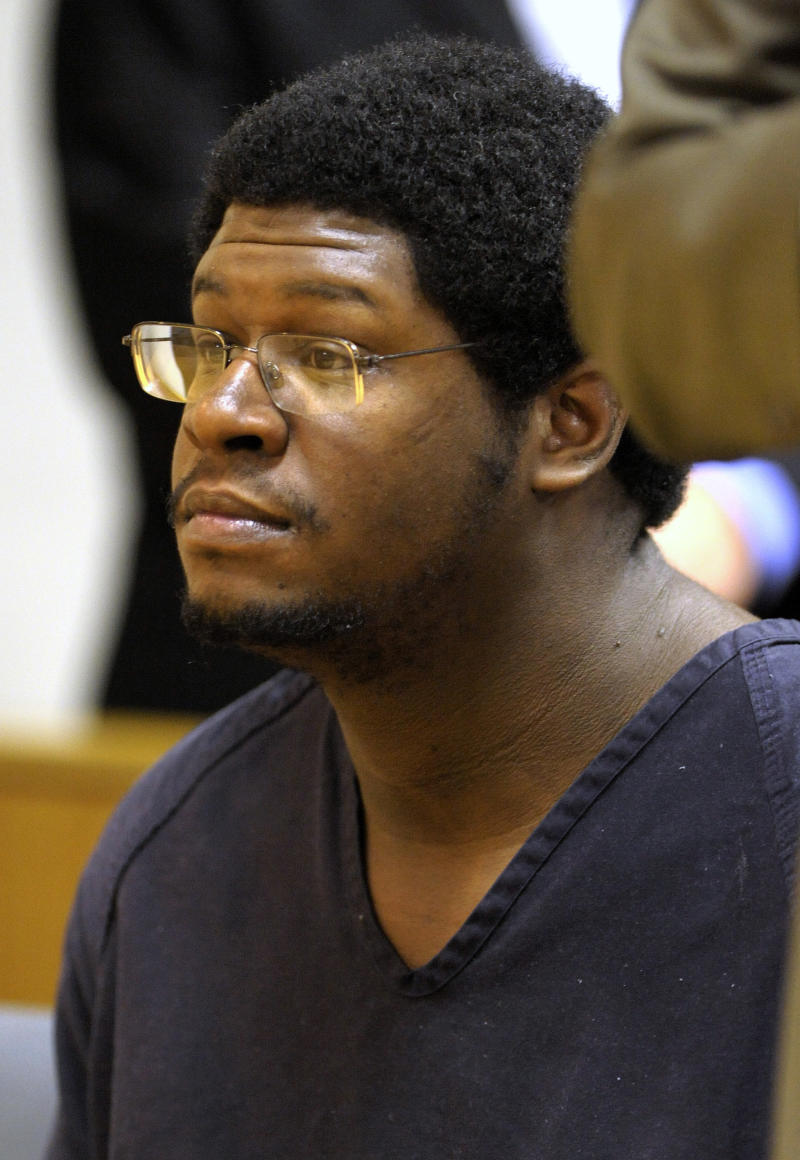 FILE -- IN a June 8, 2012, file photo James Brown listens as his preliminary hearing is delayed on June 8, 2012, in Sterling Heights, Mich.   Brown pleaded not guilty Monday, Nov. 26, 2012, to murdering four women whose bodies were found in the trunks of abandoned cars in Detroit last December.      (AP Photo/Detroit News,Todd McInturf )  DETROIT FREE PRESS OUT; HUFFINGTON POST OUT
