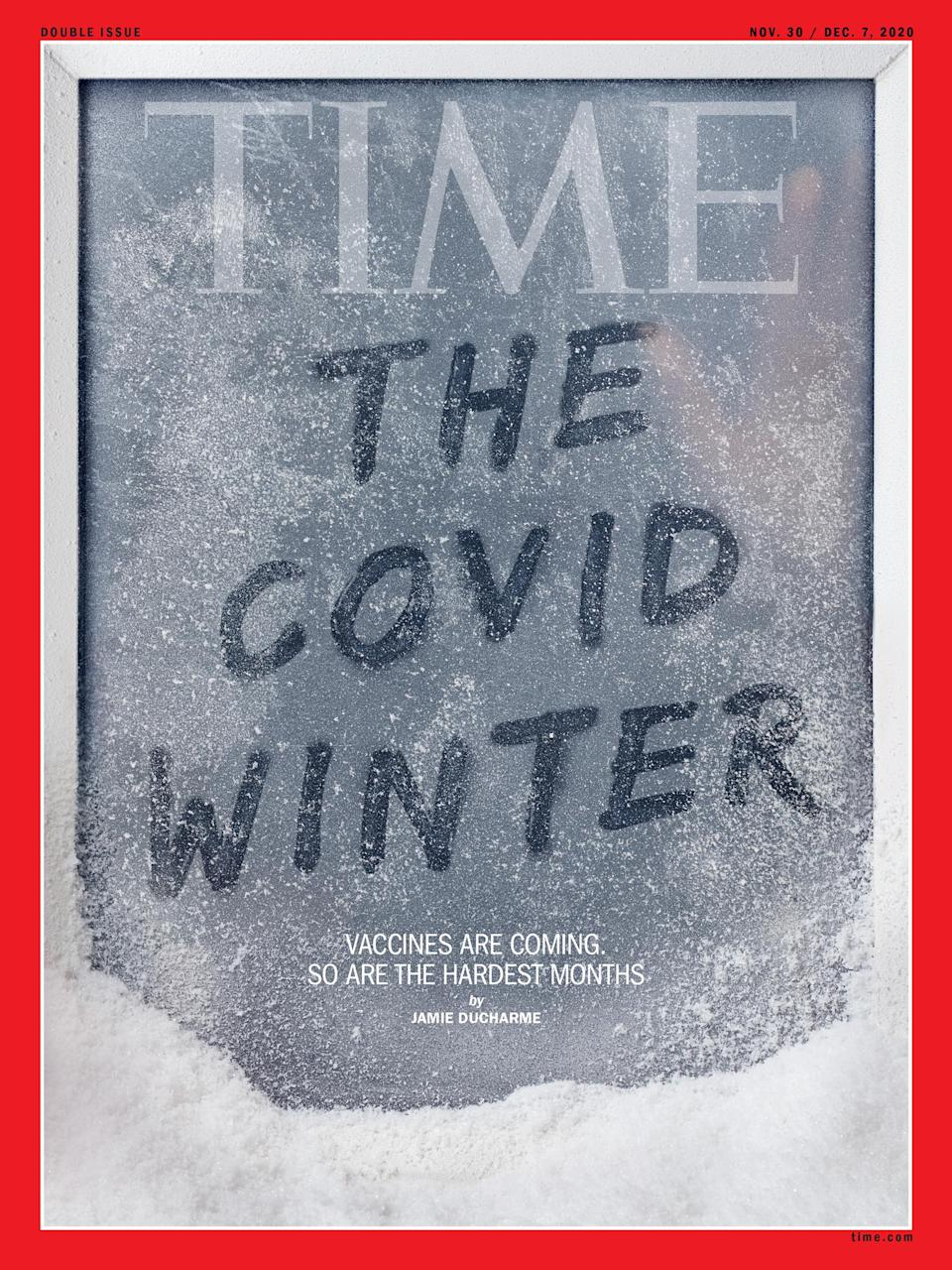 The Covid Winter Time International Magazine Europe cover