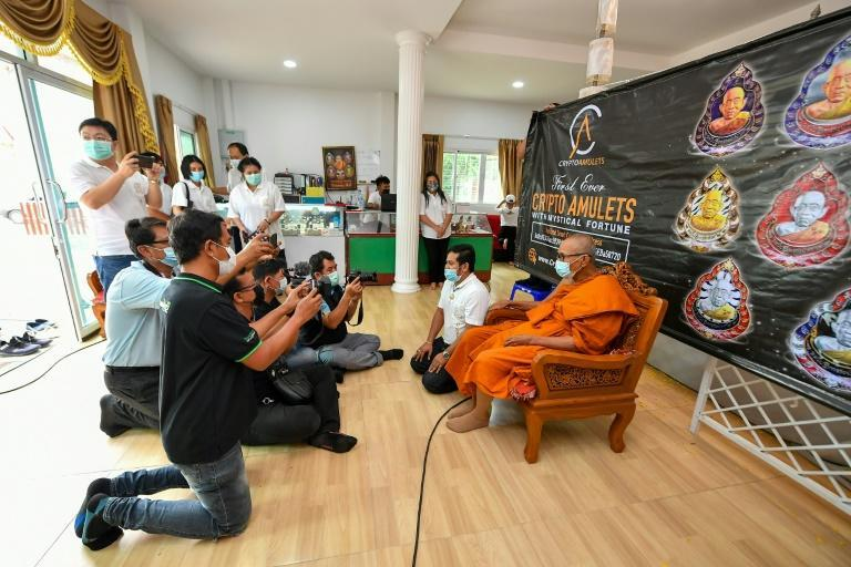 """""""CryptoAmulets"""" is the latest venture to chase the NFT art craze, with founder Ekkaphong Khemthong sensing opportunity in Thailand's widespread practice of collecting talismans blessed by revered monks"""