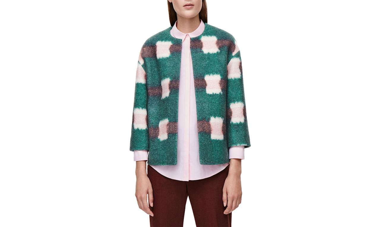 "<p>Cos Boxy Print Blazer, from $250 to $125,<a rel=""nofollow"" href=""http://www.cosstores.com/us/Women/Sale/Coats_Jackets/Boxy_print_blazer/16268821-22089300.1#c-15133331""> Cosstore.com</a> </p>"