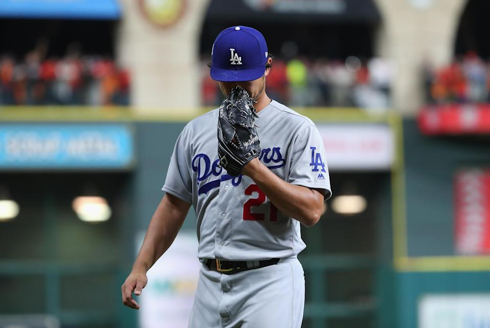 Yu Darvish got pummeled by the Astros in Game 3 of the World Series. (Getty Images)
