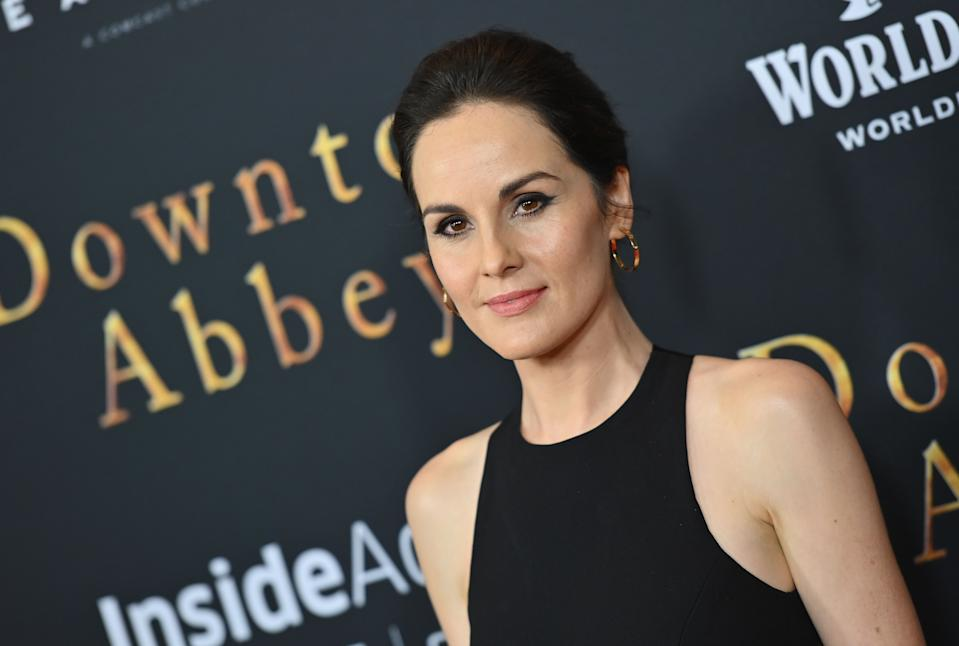 """English actress Michelle Dockery attends the """"Downton Abbey"""" New York Premiere at Alice Tully Hall, Lincoln Center on September 16, 2019 in New York City. (Photo by Angela Weiss / AFP)        (Photo credit should read ANGELA WEISS/AFP/Getty Images)"""