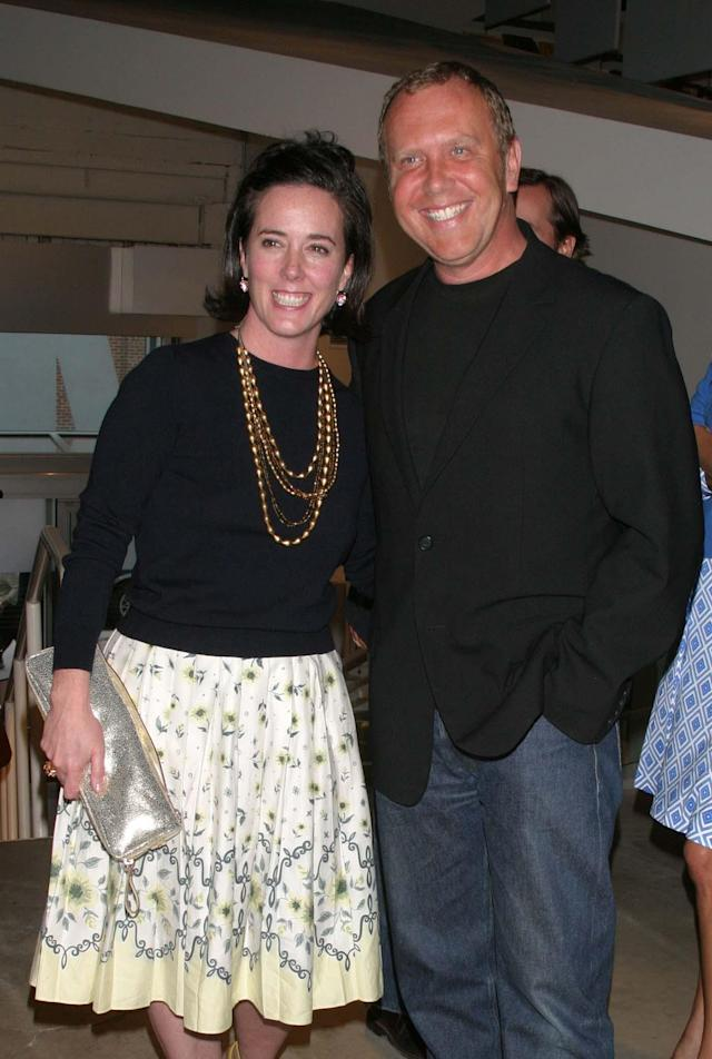 "Kate Spade and Michael Kors at the CFDA-hosted preview of ""Fashioning Fiction,"" at MoMA Queens in New York City in 2004. (Photo: John Calabrese/Penske Media/Rex/Shutterstock)"