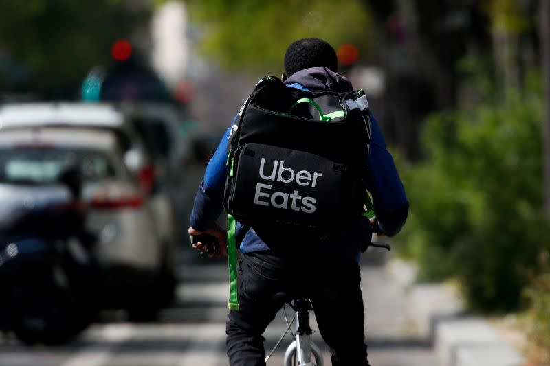 FILE PHOTO: Carrefour teams up with Uber Eats for lockdown deliveries