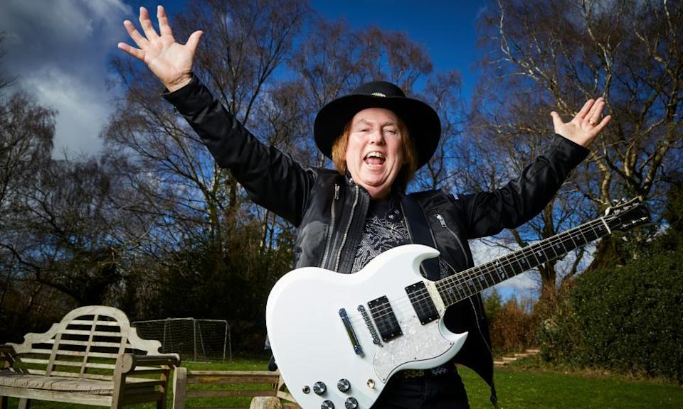 Slade guitarist Dave Hill at home in Staffordshire.