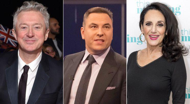 Louis Walsh, David Walliams and Lesley Joseph/Rex Photos
