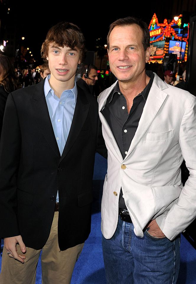 """<a href=""""http://movies.yahoo.com/movie/contributor/1800015291"""">Bill Paxton</a> and son at the Los Angeles premiere of <a href=""""http://movies.yahoo.com/movie/1809804784/info"""">Avatar</a> - 12/16/2009"""