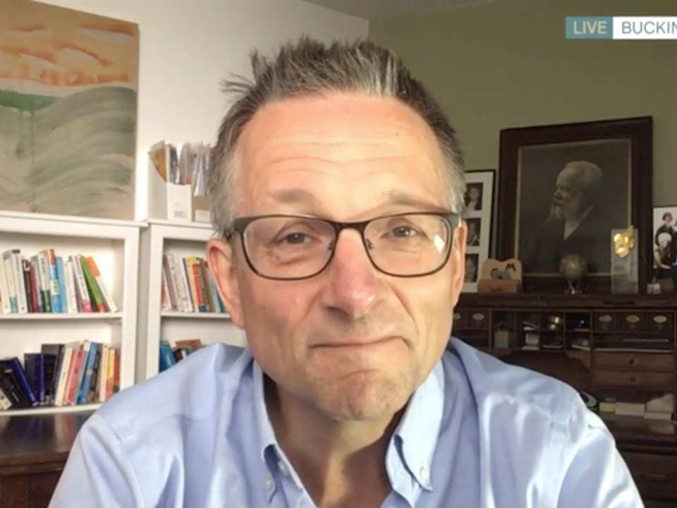 Dr Michael Mosley of 'Lose a Stone in 21 Days' on ITV's This Morning, 5 August 2020: ITV/This Morning
