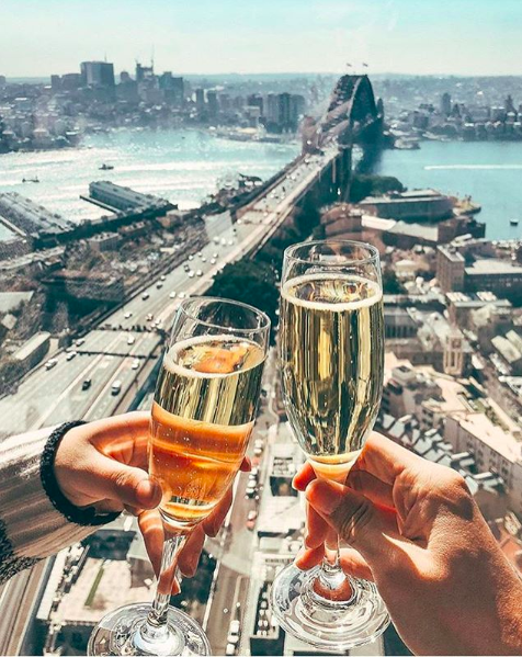 <p>Located on the 36 floor, the Blu Bar high tea experience offering sweeping views of Sydney's iconic harbour.<br />Source: Instagram @koentadyy </p>