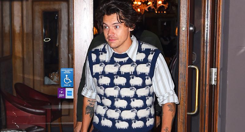 Harry Styles' sheep jumper has proved popular with fans. [Photo: Getty]