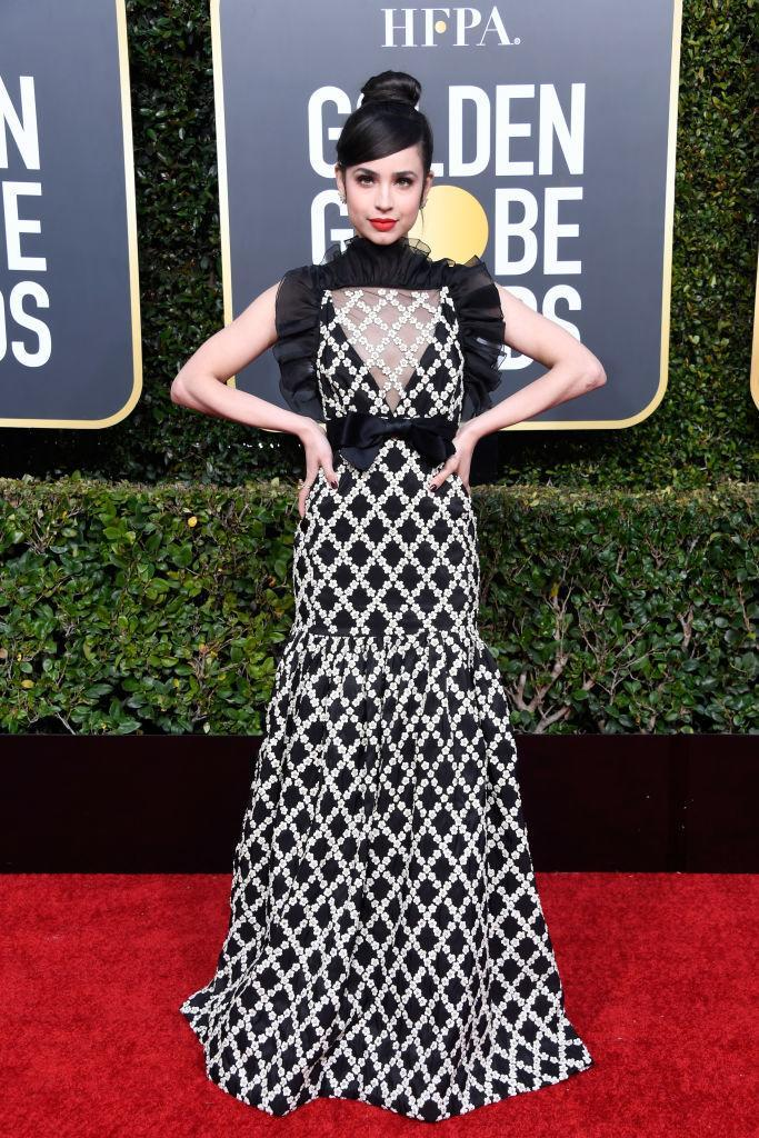 <p>Sofia Carson attends the 76th Annual Golden Globe Awards at the Beverly Hilton Hotel in Beverly Hills, Calif., on Jan. 6, 2019. (Photo: Getty Images) </p>