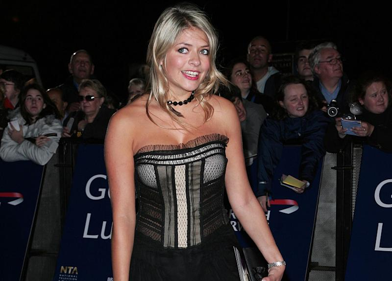 Holly Willoughby at the NTAs in 2005 (Credit: Getty Images)
