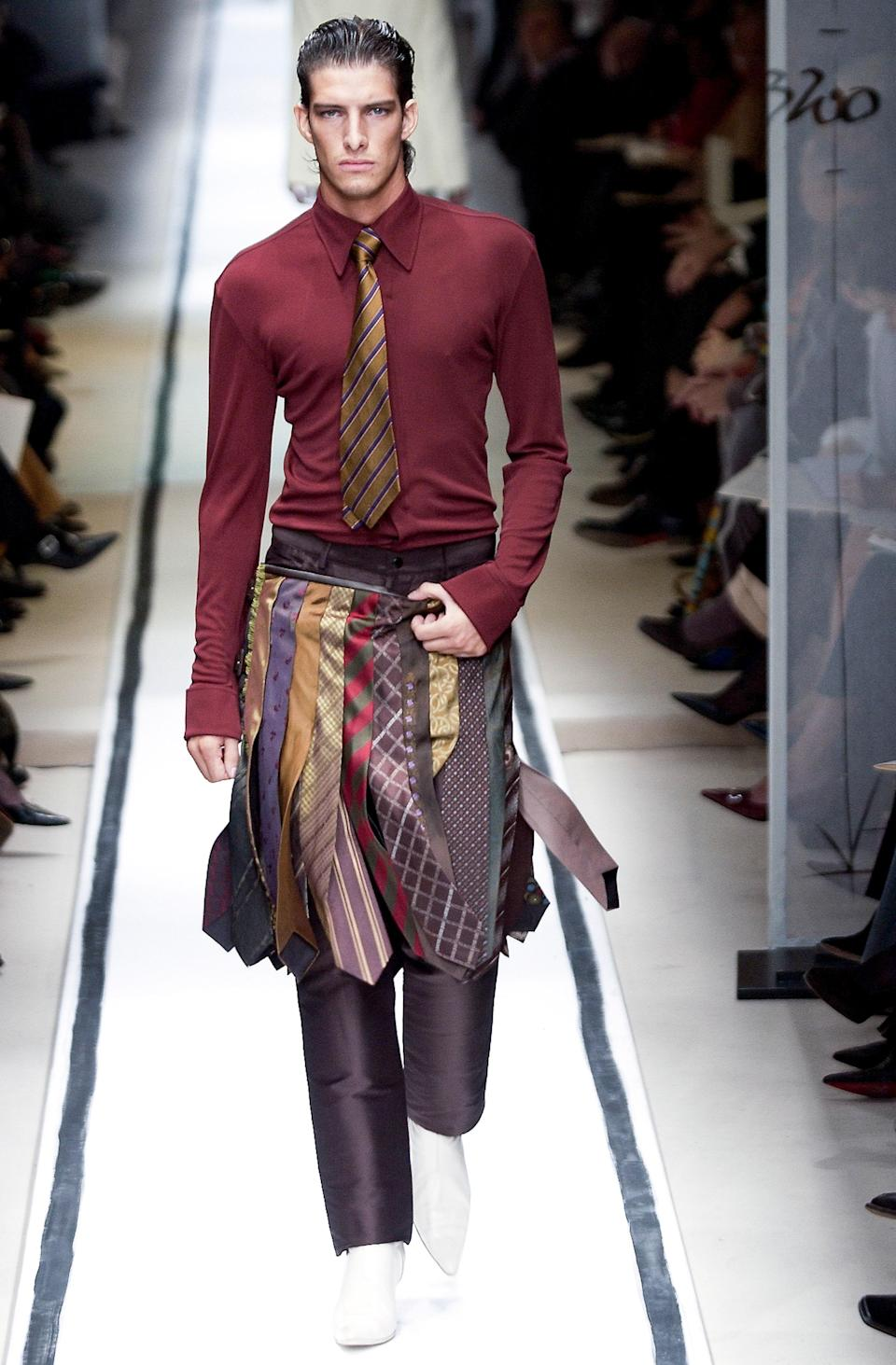 A cool idea from Jean-Paul Gaultier for what to do with all those ties.