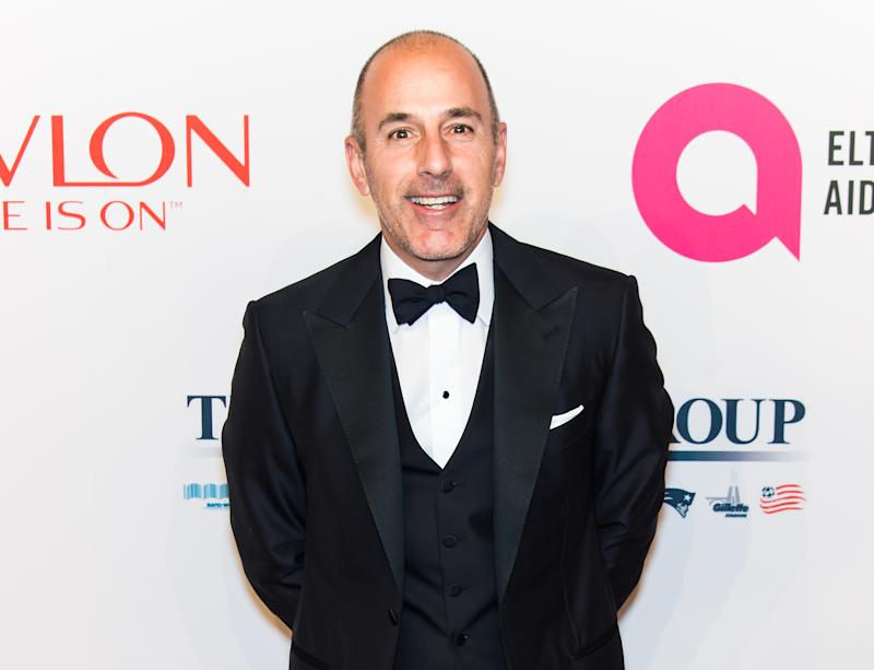 NEW YORK, NY - NOVEMBER 02: Journalist Matt Lauer attends Elton John AIDS Foundation's 14th Annual An Enduring Vision Benefit at Cipriani Wall Street on November 2, 2015 in New York City. (Photo by Gilbert Carrasquillo/FilmMagic)