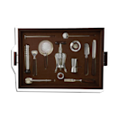 """For the dad who is the expert mixologist or just gives off Stanley Tucci energy, this impressive set includes the finest of tools to serve just about every concoction with extra finesse. $3500, Mr. Porter. <a href=""""https://www.mrporter.com/en-us/mens/product/lorenzi-milano/lifestyle/home-accessories/ebony-leather-and-stainless-steel-bar-set/19971654707046445"""" rel=""""nofollow noopener"""" target=""""_blank"""" data-ylk=""""slk:Get it now!"""" class=""""link rapid-noclick-resp"""">Get it now!</a>"""