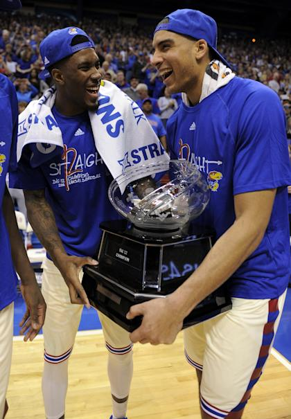 Big 12 champs Kansas is one of the heavy favorites in this year's Dance. (Getty)