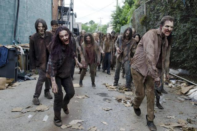 Walkers on the move in  <em>The Walking Dead. </em>(Photo: AMC)