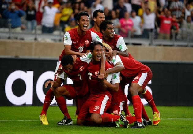 Tahiti score against Nigeria, celebrate achieving their ultimate goal