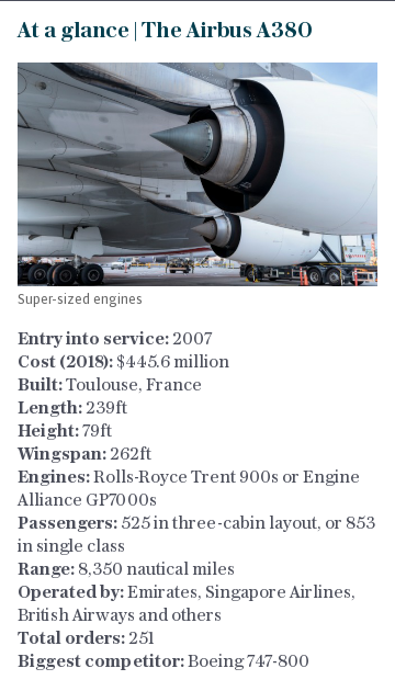 At a glance | The Airbus A380