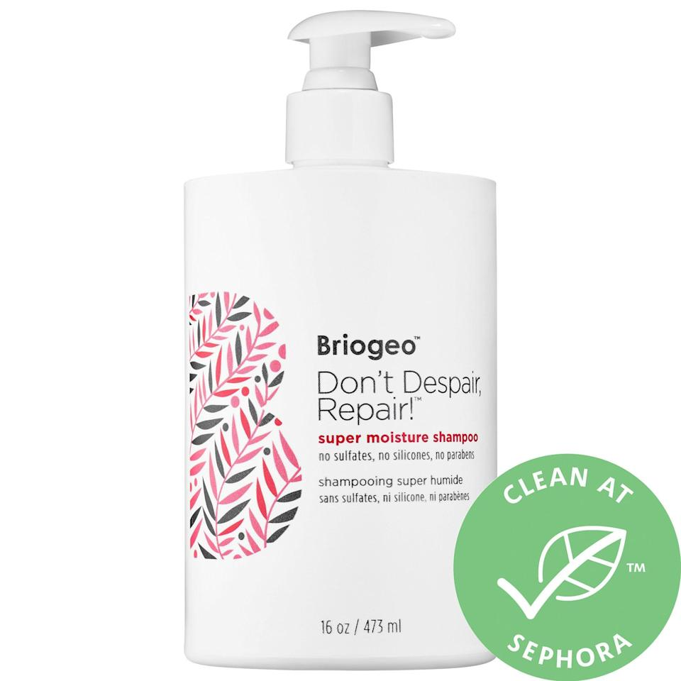 <p>Fortify your hair with some serious hydration by using the <span>Briogeo Don't Despair, Repair! Super Moisture Shampoo </span> ($36). It removes buildup without stripping your scalp.</p>