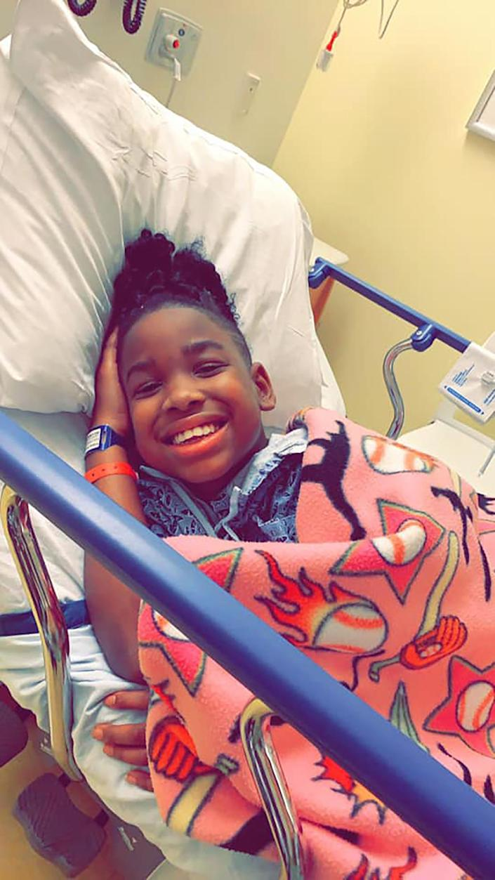 Nevaeh, 11, gives her social media followers an unfiltered look about what having cancer is like. She finds strength in the support she receives. And, they learn more about cancer. (Courtesy Nevaeh's Victory Against Cancer)