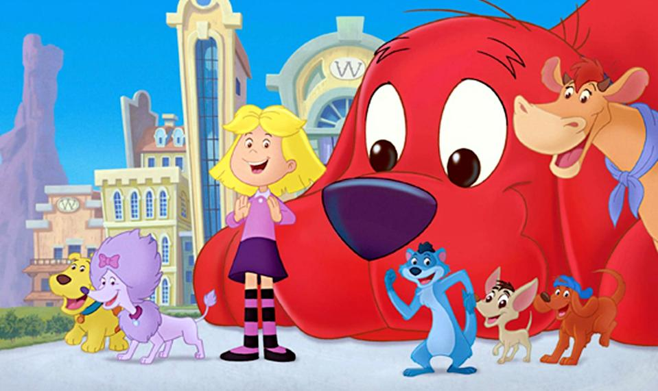 """<p><strong>Amazon's Description:</strong> """"Worried that he costs too much to feed, Clifford runs away to join a carnival act and help win a lifetime supply of Tummy Yummies.""""</p> <p><a href=""""https://www.amazon.com/gp/video/detail/B07NZVVTXS/"""" class=""""link rapid-noclick-resp"""" rel=""""nofollow noopener"""" target=""""_blank"""" data-ylk=""""slk:Watch Clifford's Really Big Movie on Amazon Prime Video here!"""">Watch <strong>Clifford's Really Big Movie</strong> on Amazon Prime Video here!</a></p>"""