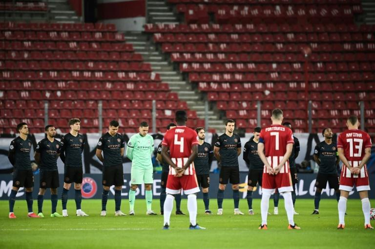 A minute's silence in honour of Diego Maradona was held before Manchester City's game at Olympiakos