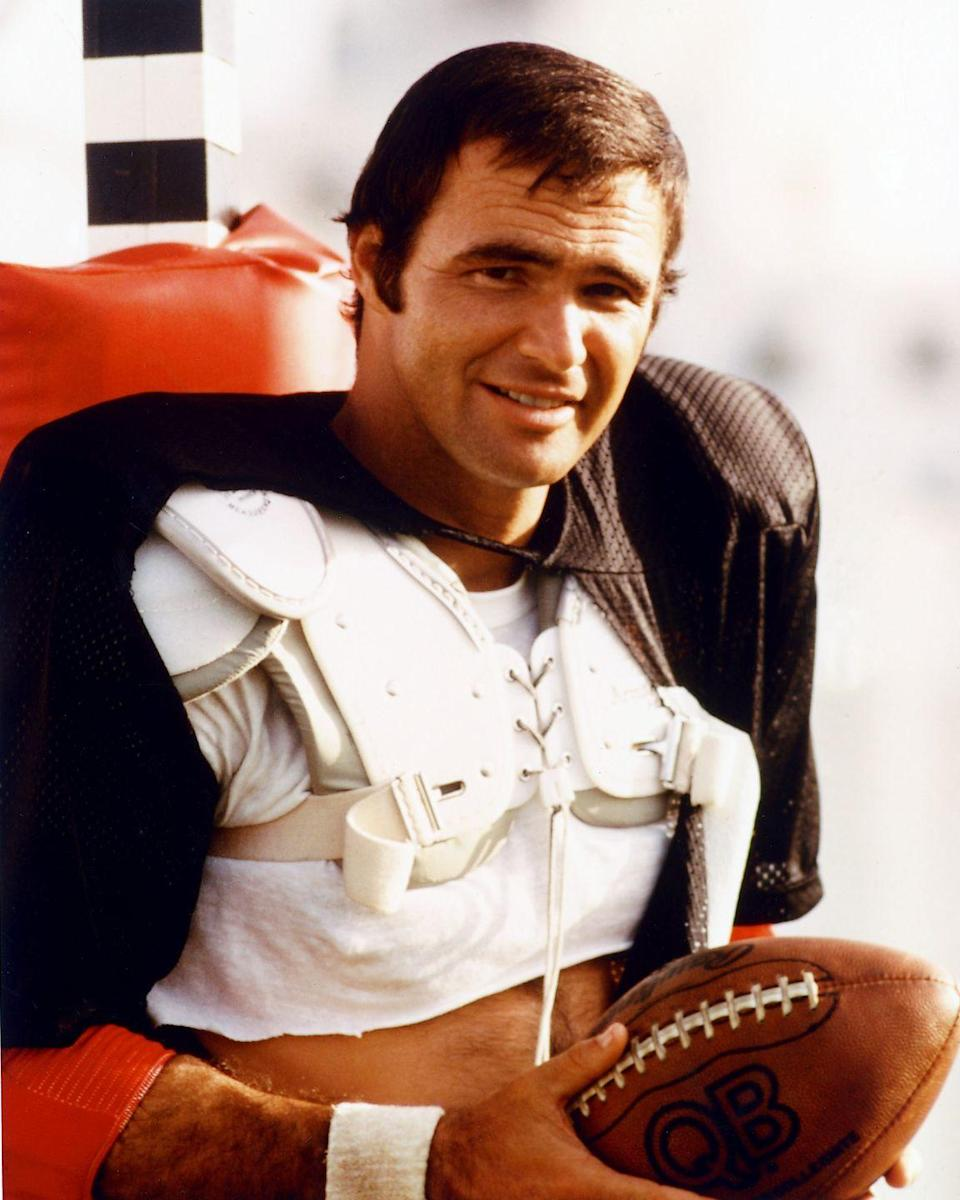 """<p>Burt Reynolds was a <a href=""""https://www.cbssports.com/general/news/burt-reynolds-florida-state-football-career-ended-early-but-late-actor-still-impacted-the-game/"""" rel=""""nofollow noopener"""" target=""""_blank"""" data-ylk=""""slk:halfback for Florida State University"""" class=""""link rapid-noclick-resp"""">halfback for Florida State University</a> before becoming an actor. Reynolds had a terrific starting season, but due to a knee injury and an accident that resulted in spleen surgery, his college football career was cut short. </p>"""