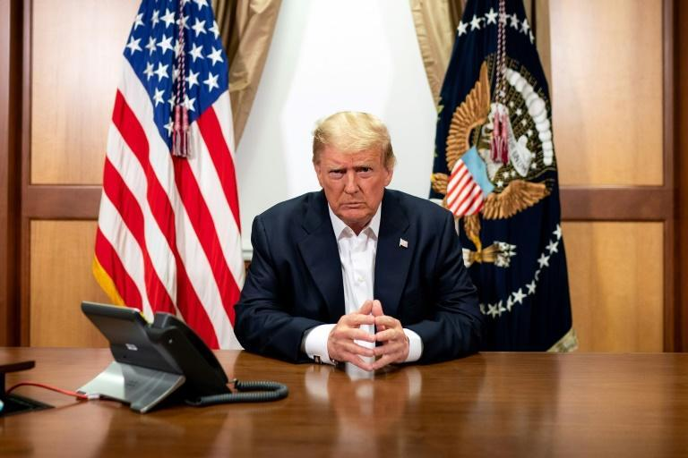 US President Donald Trump was set to leave the hospital outside Washington that he'd checked into last week after being diagnosed with Covid-19