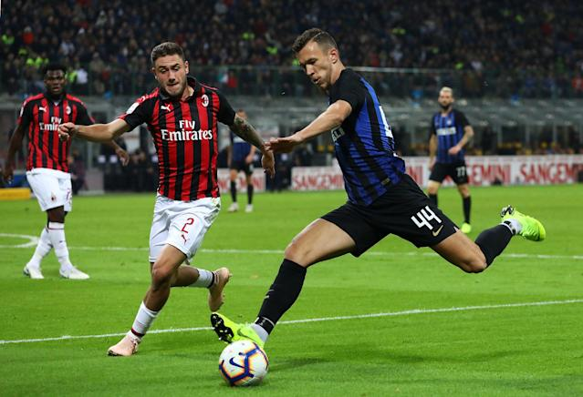 Ivan Perisic (44) and Internazionale face arch rivals AC Milan in the Milan derby this weekend. What's the best bet? (Getty)