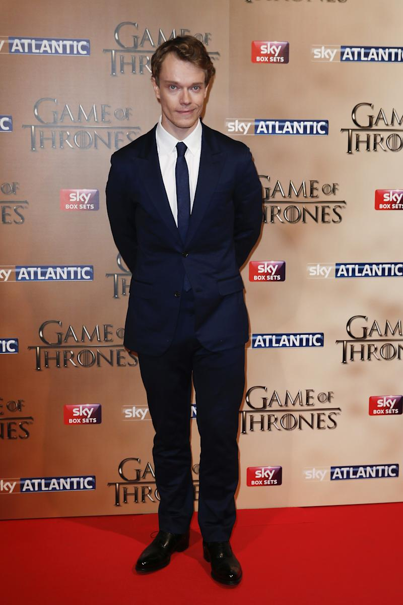 Alfie Allen at the premiere of Game of Thrones season five in London, England, March 2015.