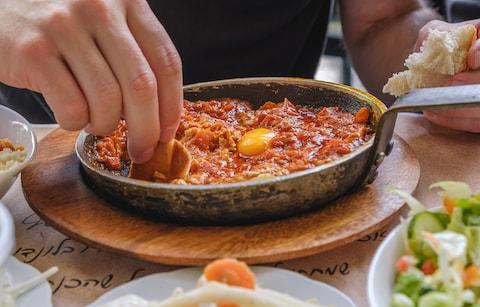 Shakshuka in Tel Aviv - Credit: getty