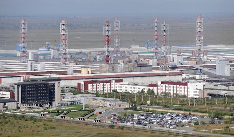 General view of Rusal's aluminum smelter in Sayanogorsk, Russia, pictured in 2009