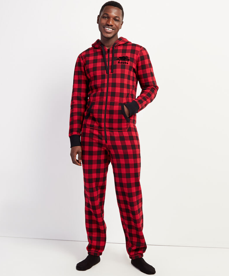 Park Plaid Onesie. Image via Roots.